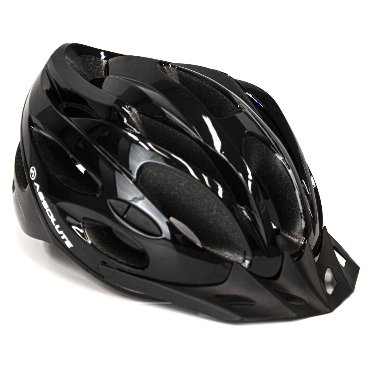Capacete Ciclismo Bike Absolute Nero c/ Led - Preto