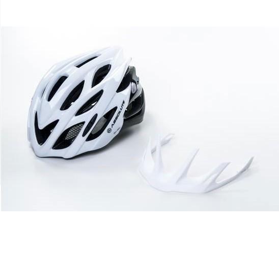 Capacete Ciclismo Bike Absolute Wild Led - Branco / Preto