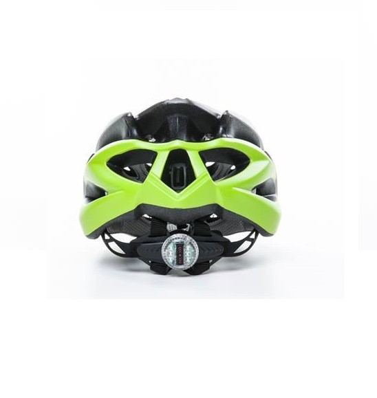 Capacete Ciclismo Bike Absolute Wild Led Cinza / Verde
