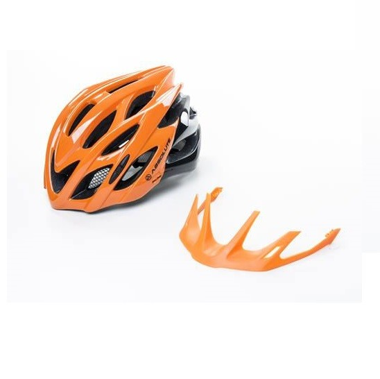 Capacete Ciclismo Bike Absolute Wild Led Laranja / Preto