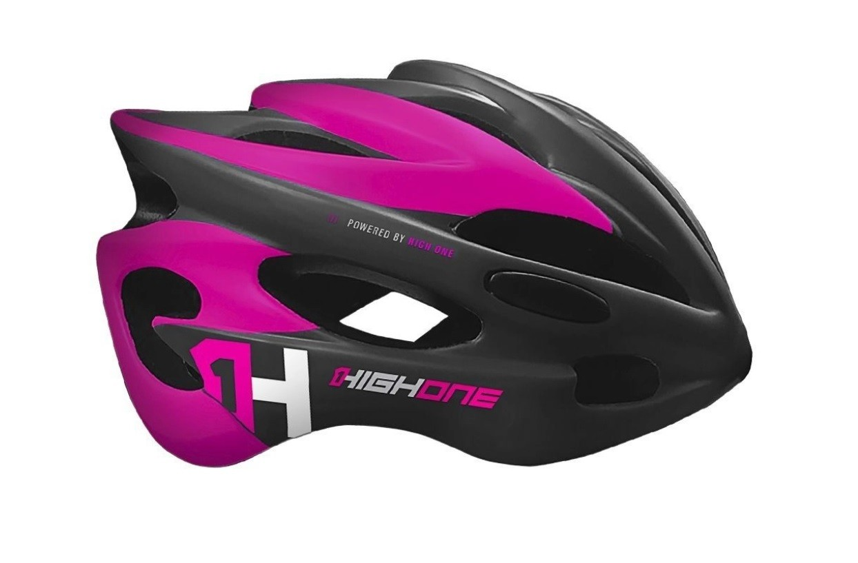 Capacete Ciclismo MTB High One Volcano New c/ Led  - Rosa  - Calil Sport Bike