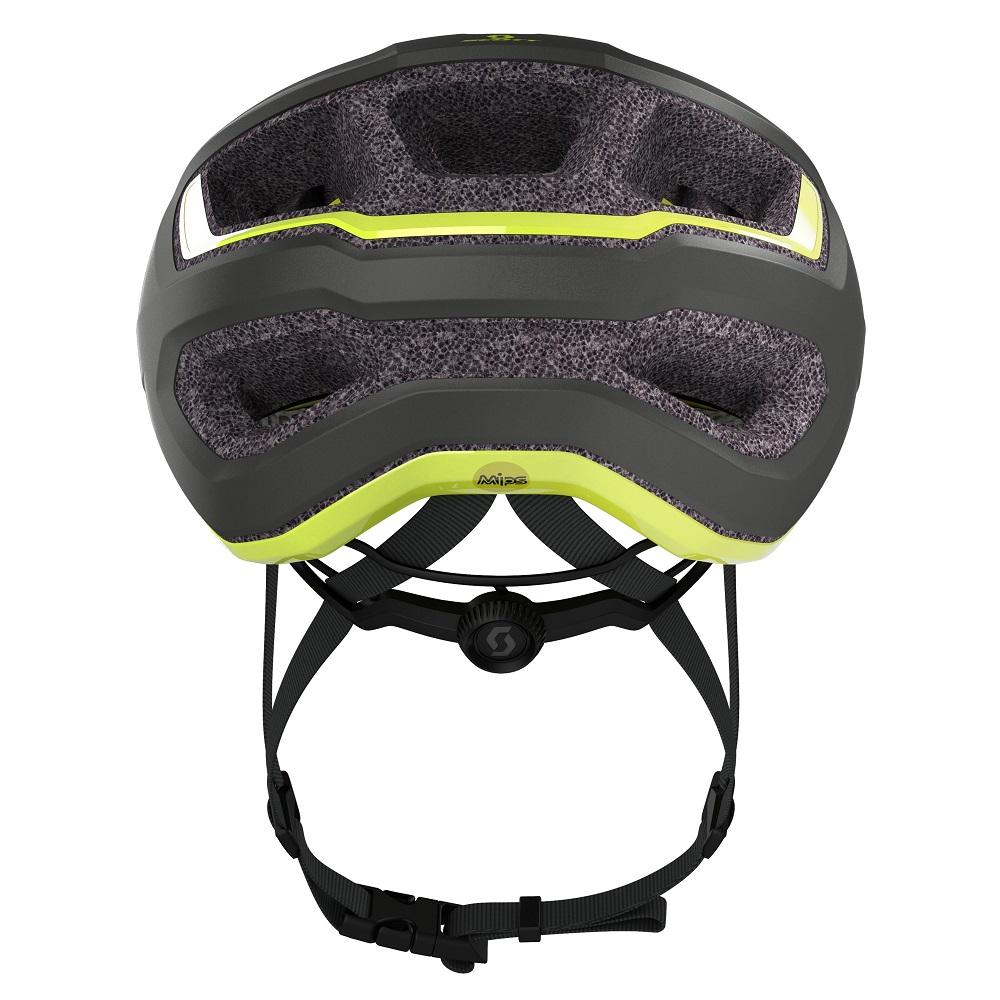 Capacete Ciclismo MTB Speed Scott Mtb Arx Plus MIPS 2021 - Cinza / Amarelo