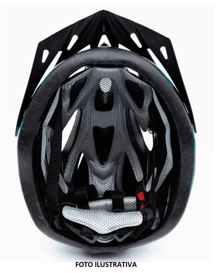 Capacete Ciclismo MTB TSW Raptor 2 C/ Led - Preto / Pink  - Calil Sport Bike