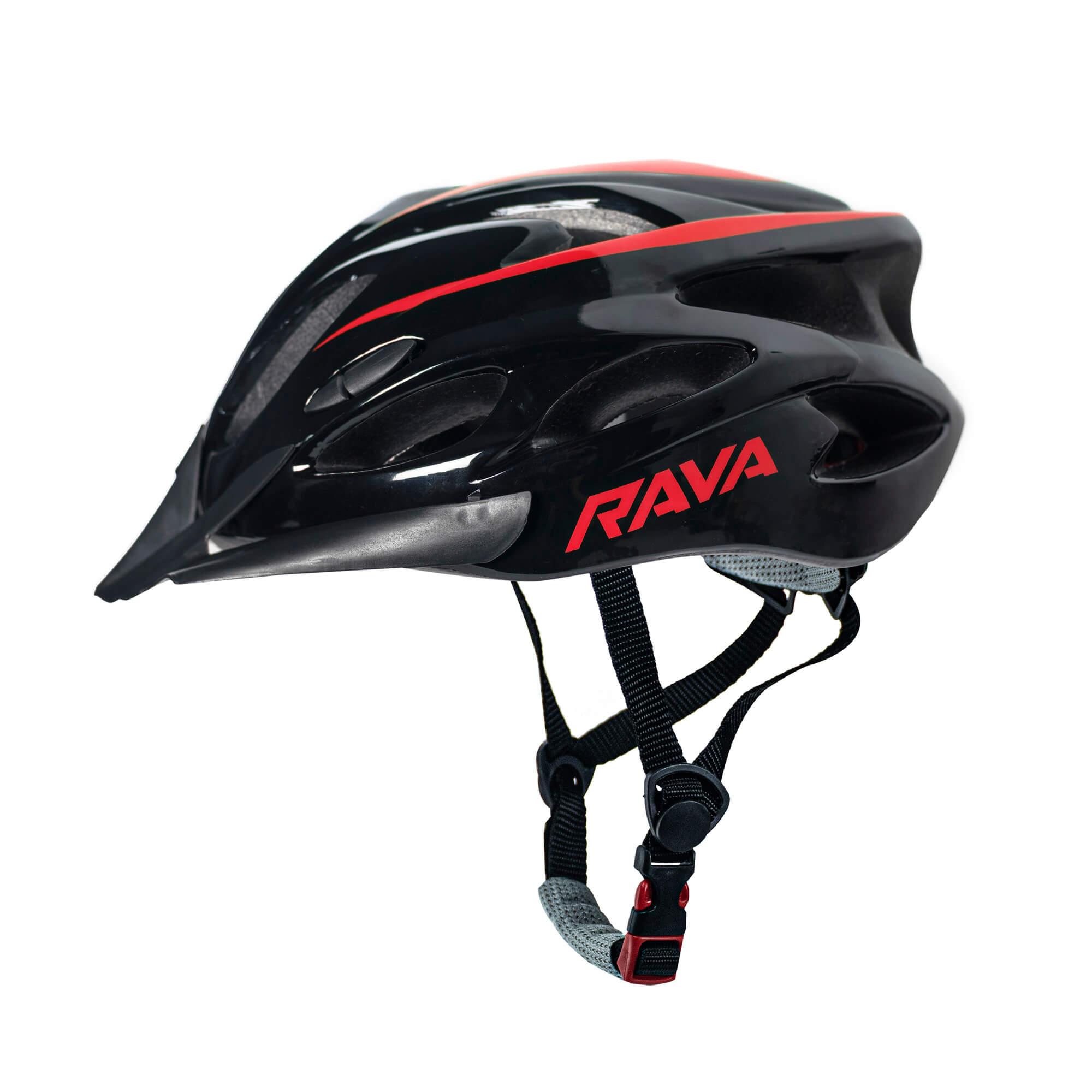 Capacete Ciclismo MTB TSW Rava New Space - Preto / Vermelho  - Calil Sport Bike
