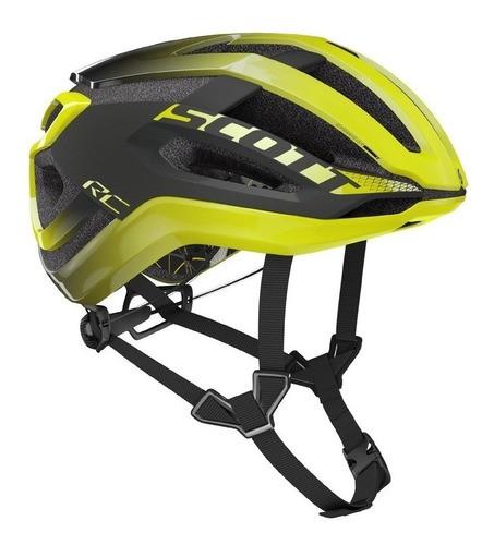 Capacete Mtb Scott Centric Plus - Preto / Amarelo Tam. M  - Calil Sport Bike