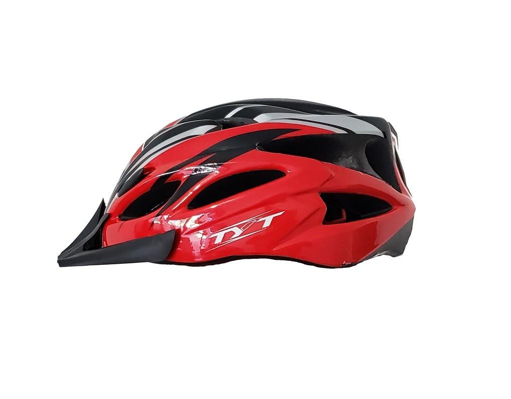 Capacete Bike Tyt MTB Pro C/ Sinalizador Led - Vermelho c/ Preto  - Calil Sport Bike
