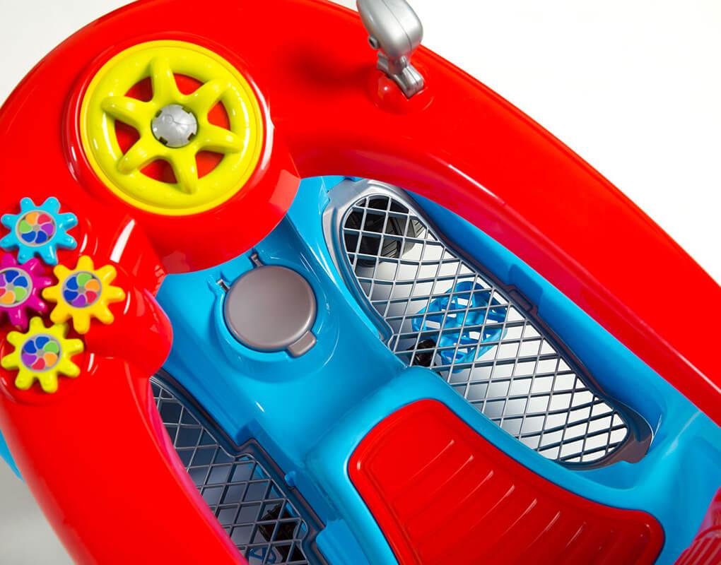Carrinho Infantil Passeio e Pedal Calesita 1300 Fouks - Azul   - Calil Sport Bike