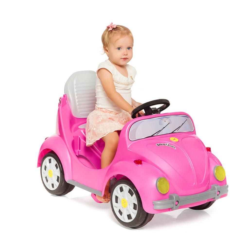 Carrinho Infantil Passeio e Pedal Calesita 1300 Fouks - Rosa