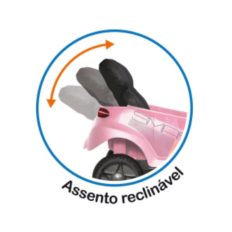 Carrinho Smart Baby Comfort Passeio Bandeirante Rosa Cod 536