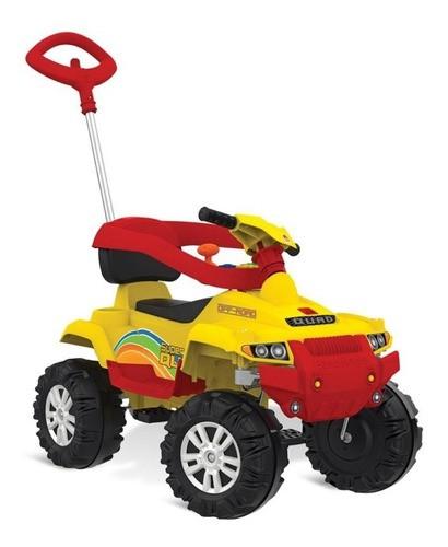 Carrinho Superquad Passeio & Pedal Bandeirante Amarelo 591