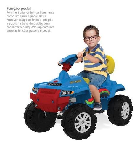 Carrinho Superquad Passeio & Pedal Bandeirante Azul 592