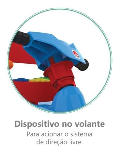 Carrinho Superquad Passeio & Pedal Bandeirante Azul 592  - Calil Sport Bike