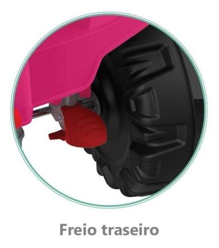 Carrinho Superquad Passeio & Pedal Bandeirante Rosa 593