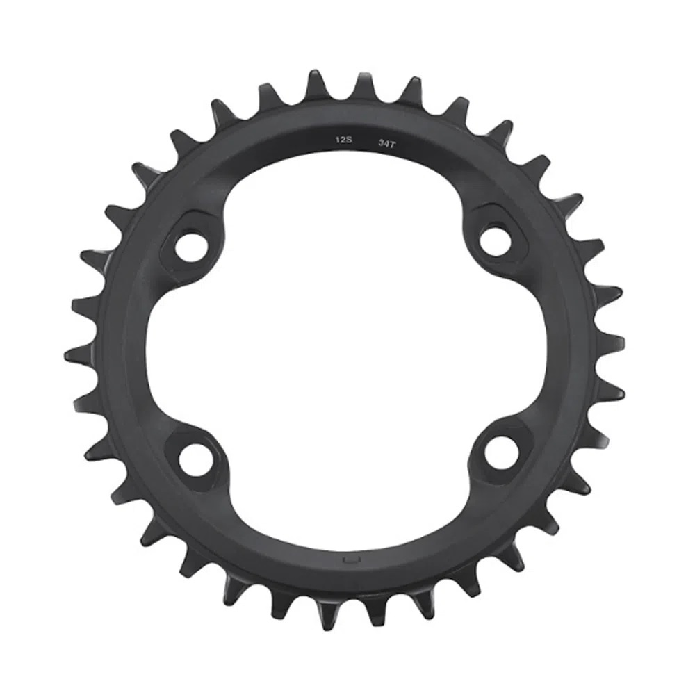 Coroa Bike Shimano MT610 34 Dentes 12v Bcd 96mm Assimétrico