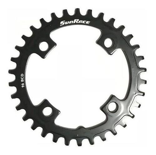 Coroa Sunrace Bike Mtb 1x10 / 11v Bcd 96mm 32 34 36 Dentes