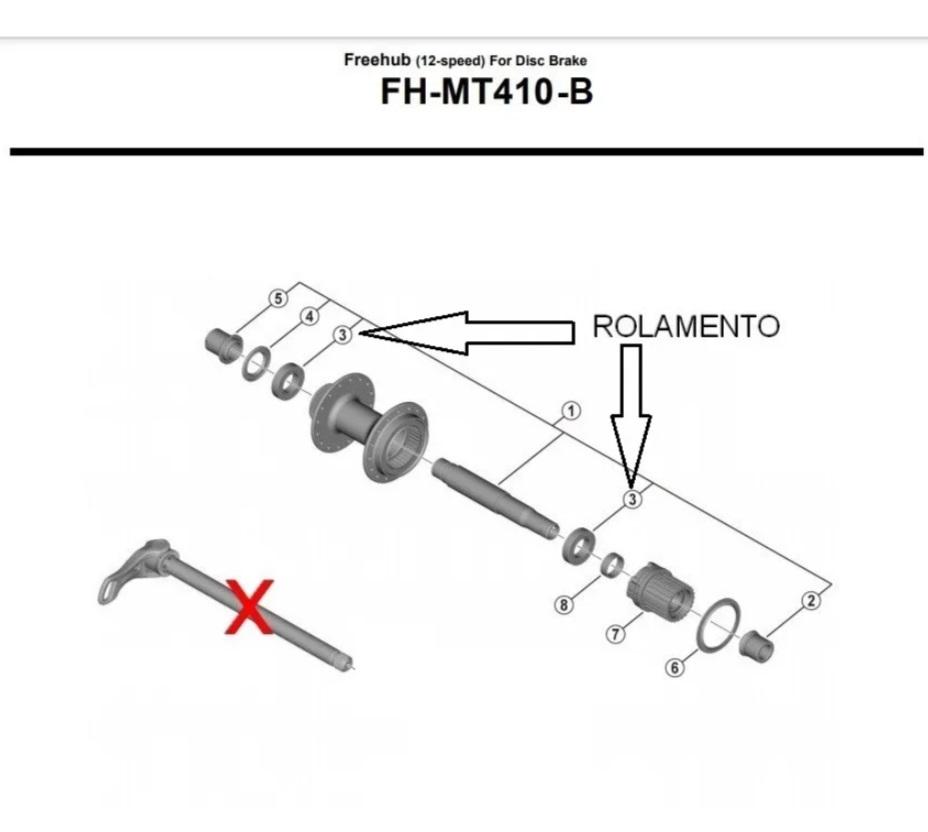 Cubo Traseiro Shimano MT410-B Boost 148mm 32f 12v Microsplin