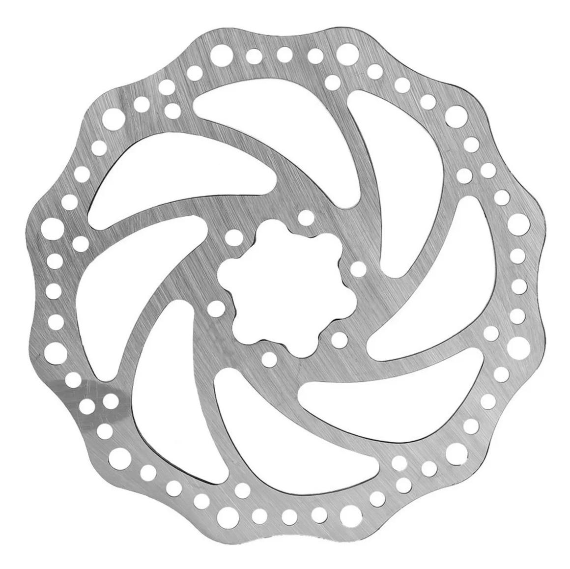 Disco Rotor Absolute 203mm Freio Mec Hidr Mtb Xc Bike 6 Furo