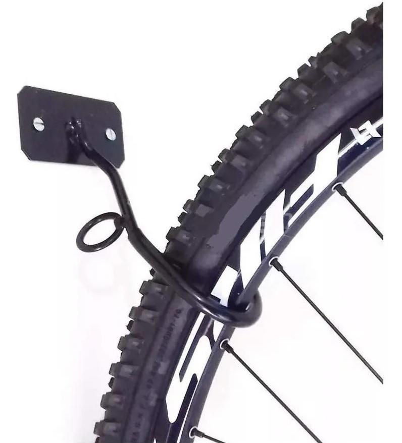 Gancho Suporte Parede Pendurar Bicicleta Vertical C/ Parafusos