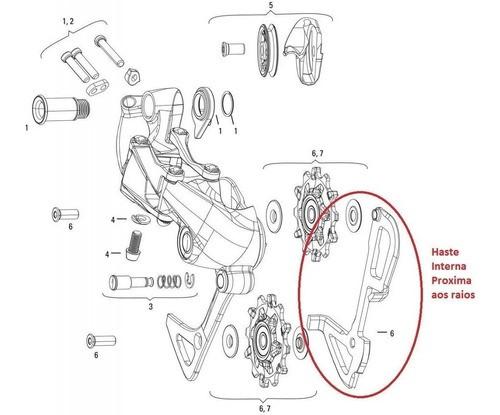 Haste Interna Câmbio Shimano Deore M610 Cage Sgs Longo M786