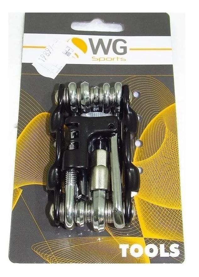 Kit Ferramentas Canivete Bike C/ Chave Corrente Wg 10f Mtb