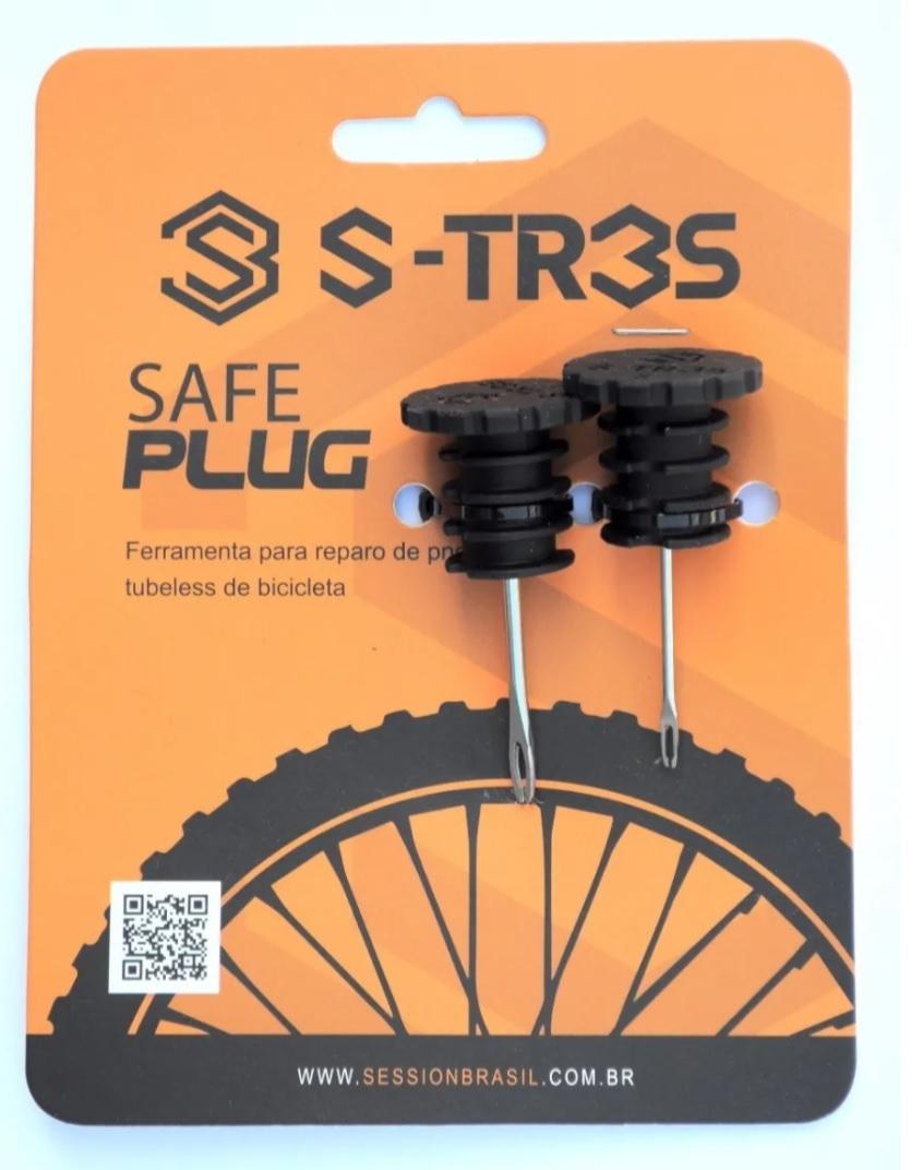 Kit Reparo Tubless Ferramenta Encaixe Guidão Safe Plug S-Tres