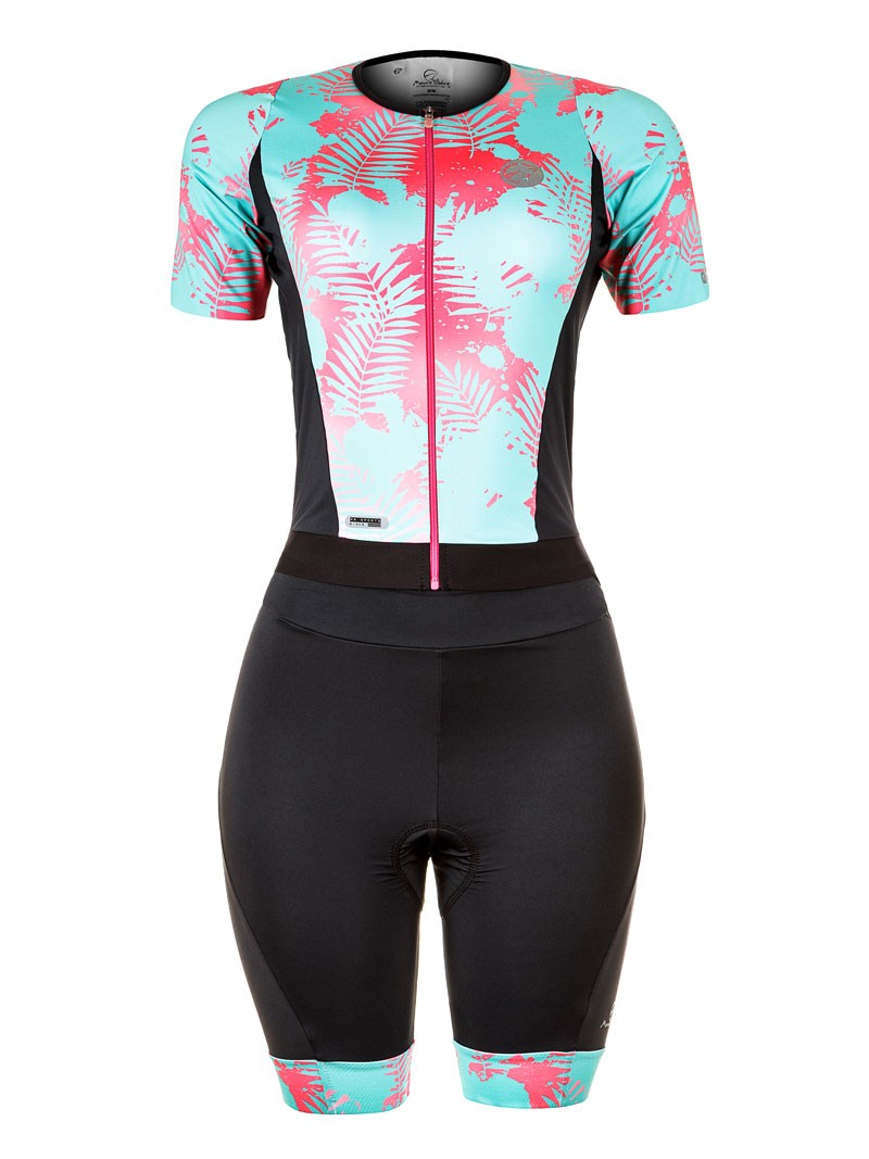 Macaquinho de Ciclismo Feminino Mauro Ribeiro LEAF - Azul