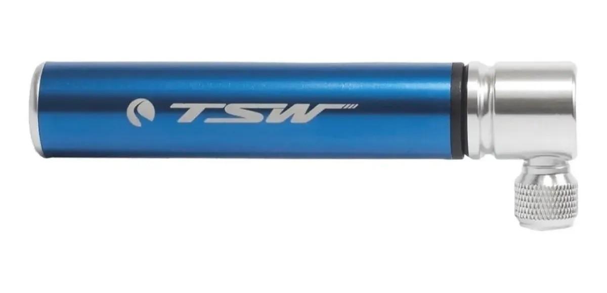 Mini Bomba De Ar Bike Tsw Alumínio 12cm 90psi 67g - Azul