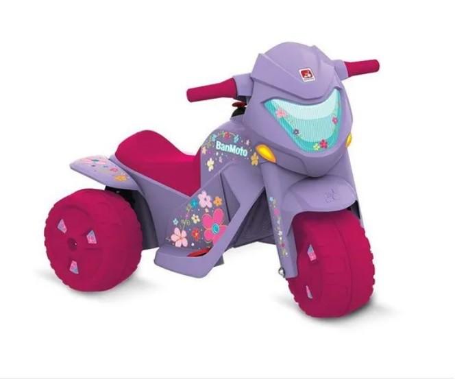 Moto Elétrica Infantil Ban Moto 6v Bandeirante - Lilás