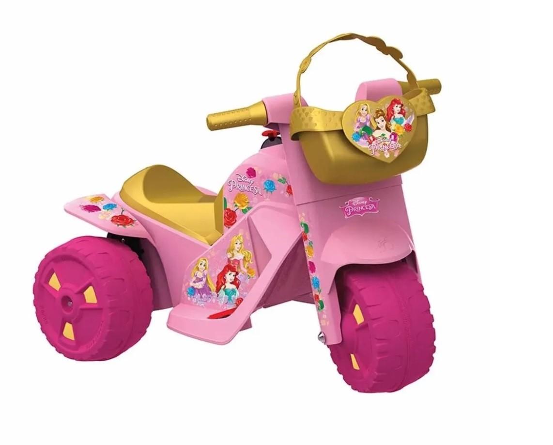 Moto Elétrica Infantil Ban Moto 6v Bandeirante - Princesas Disney
