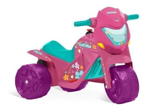 Moto Elétrica Infantil Ban Moto 6v Bandeirante - Rosa
