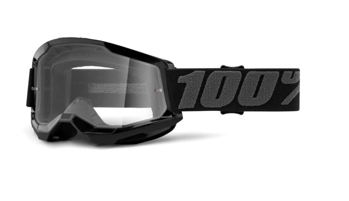 Óculos 100% Strata 2 Off Road Motocross Trilha Enduro - Black