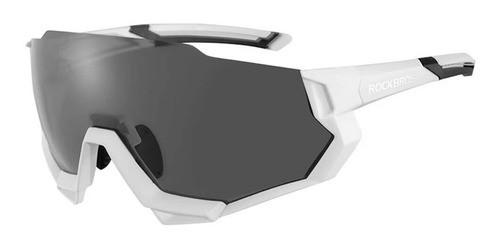 Óculos Ciclismo Tsw Rockbros Polarizado 5 Lentes - Branco