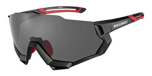 Óculos Ciclismo Tsw Rockbros Polarizado 5 Lentes - Preto  - Calil Sport Bike
