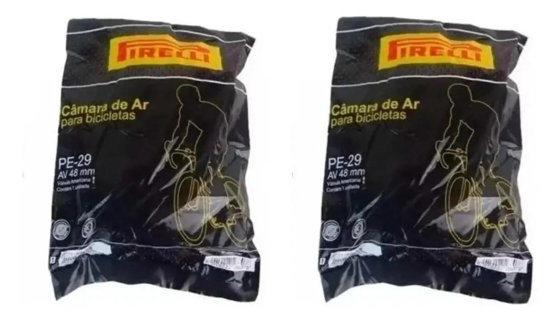 Par Câmara De Ar Mtb Pirelli Aro 29 Bico Grosso 48mm