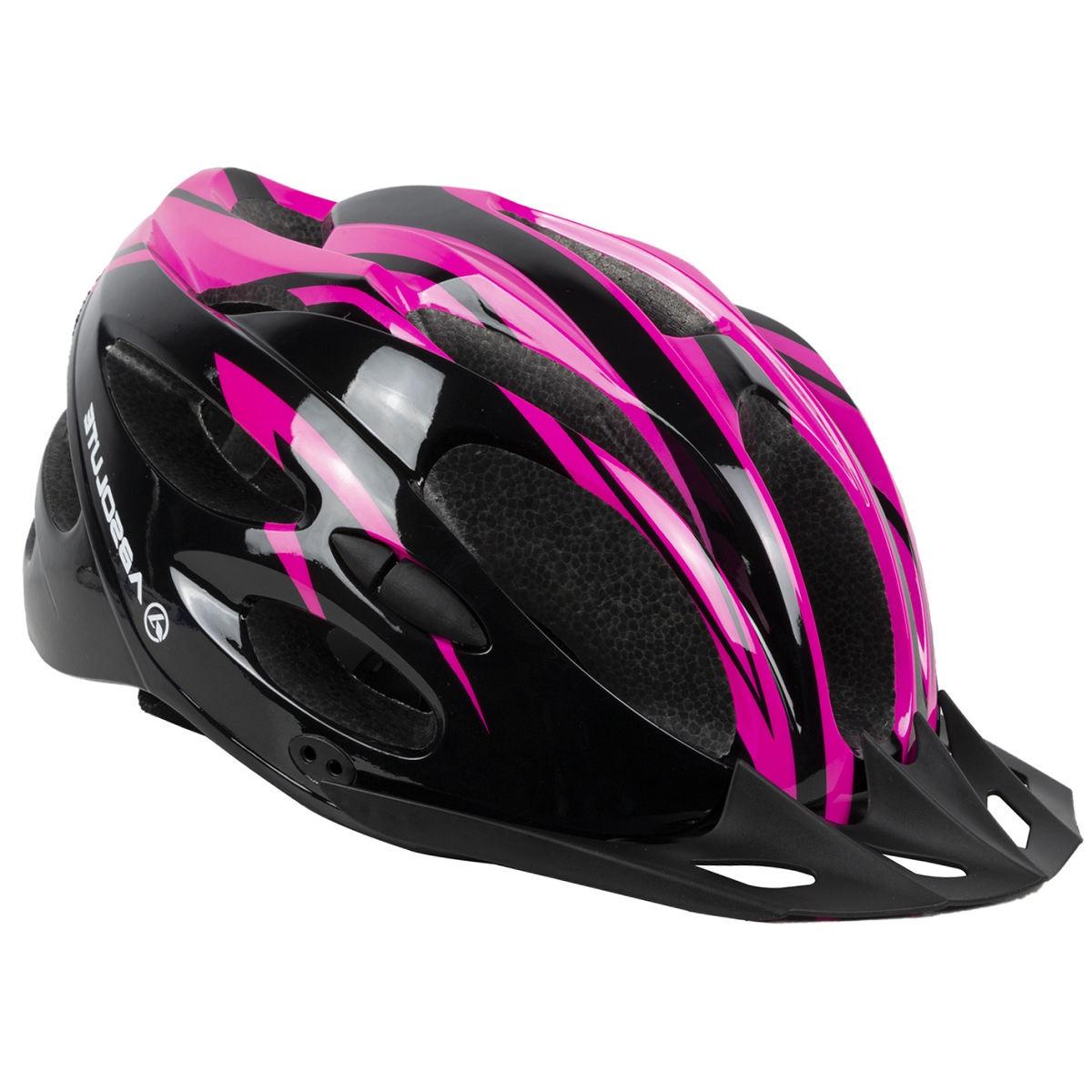 Capacete Ciclismo Bike Absolute Nero c/ Led - Pto / Rosa
