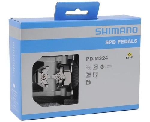 Pedal Bicicleta Shimano M324 Plataforma Ou Clip Spd Bike Mtb