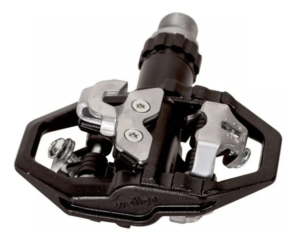 Pedal Bike Mtb Clip E Plataforma Wellgo M279 Alum. Com Tacos