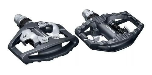 Pedal Mtb Shimano Pd-eh500 Plataforma Clip Com Tacos - Preto