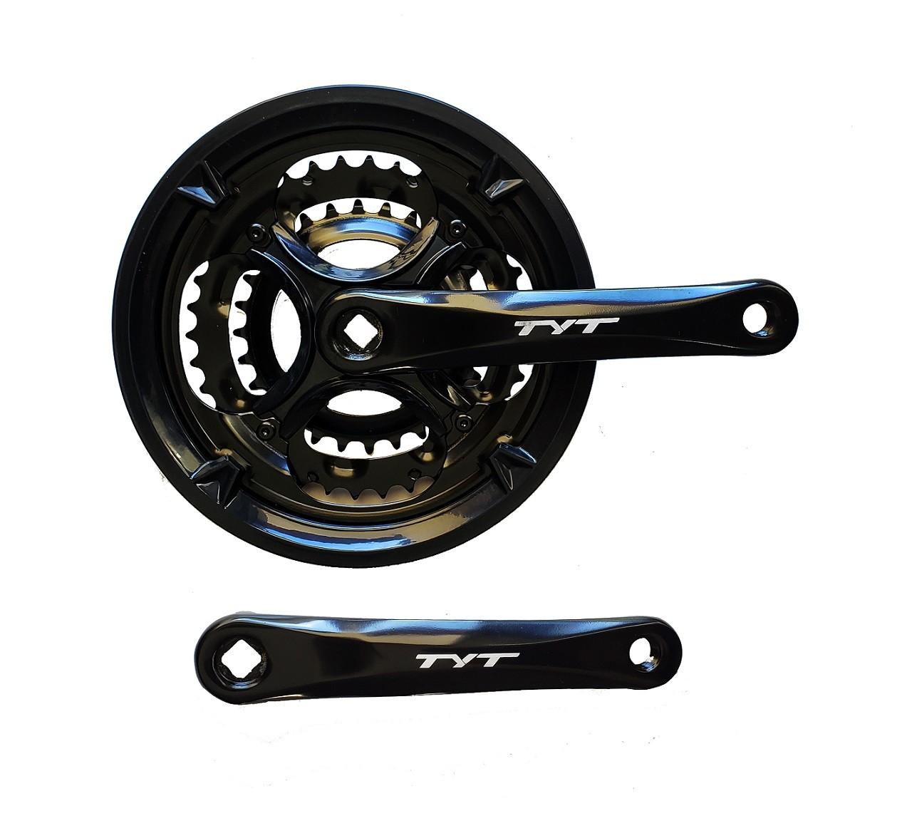 Pedivela Bicicleta Alumínio Triplo TYT 42x34x24 6,7,8v MTB