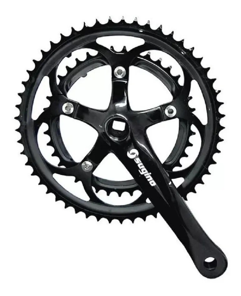 Pedivela Bike Speed Sugino Duplo 39/53 170mm - Preto
