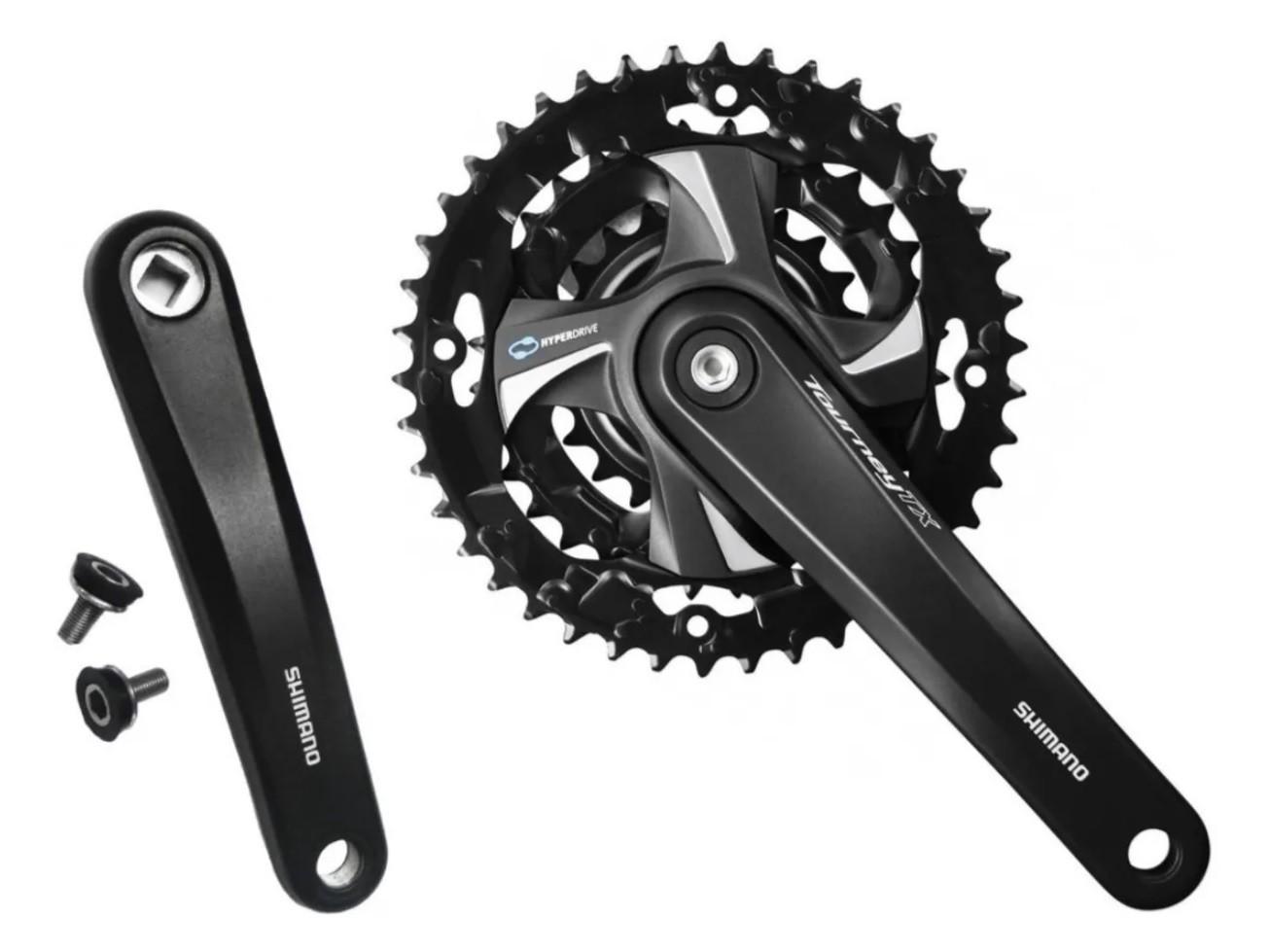 Pedivela Shimano Tourney Tx801 175mm 48/38/28 7v 8v 21v 24v  - Calil Sport Bike