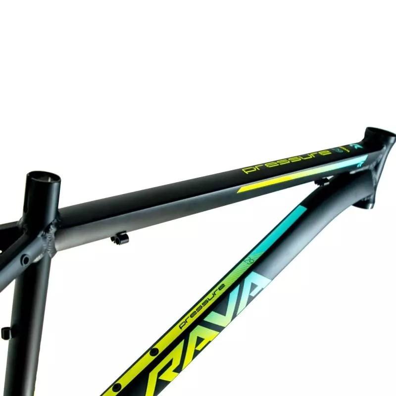 Quadro Aro 29 MTB Rava Pressure 2020 Alumínio - Preto / Verde / Azul