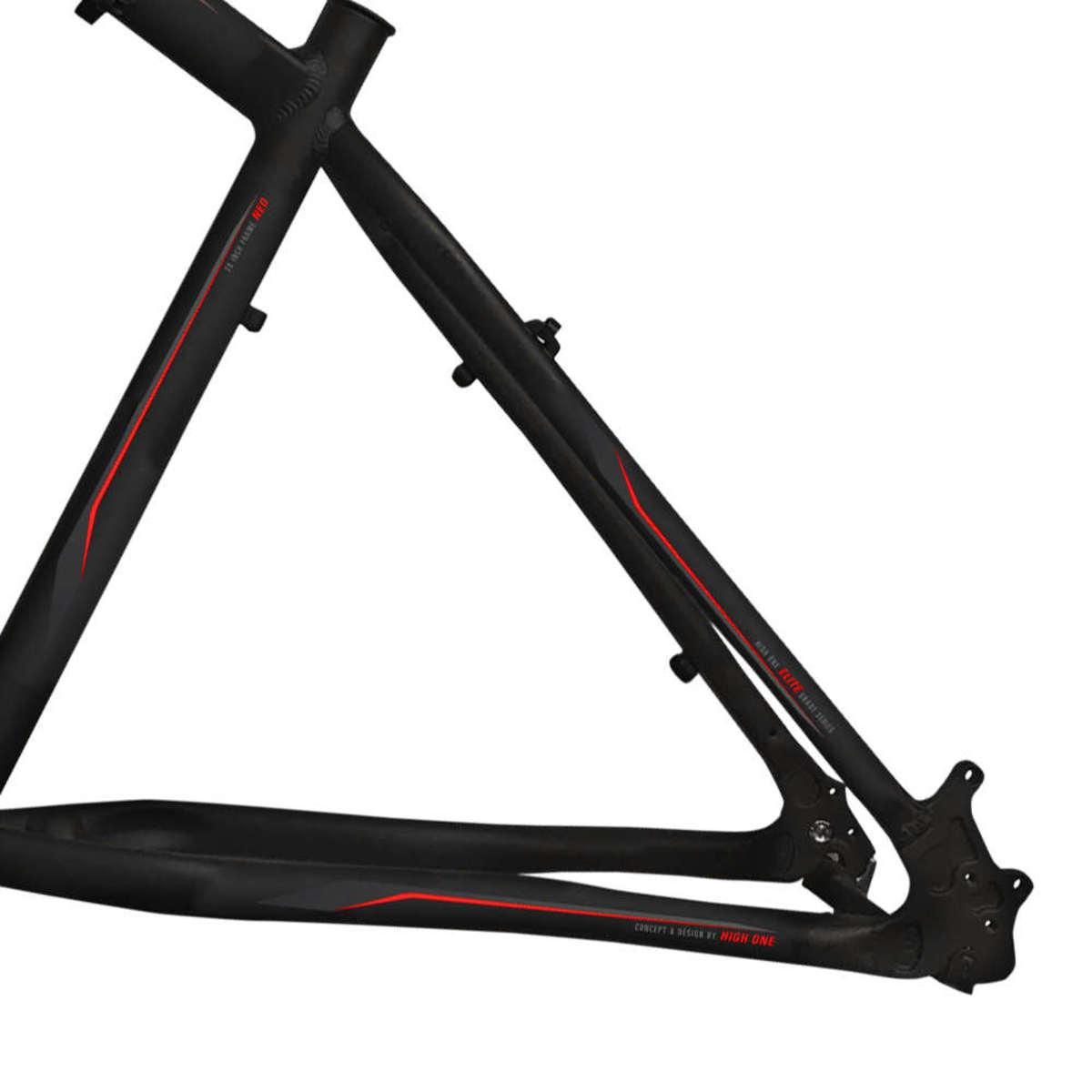 Quadro Bicicleta Aro 29 Alumínio MTB High One NEO - Preto / Vermelho