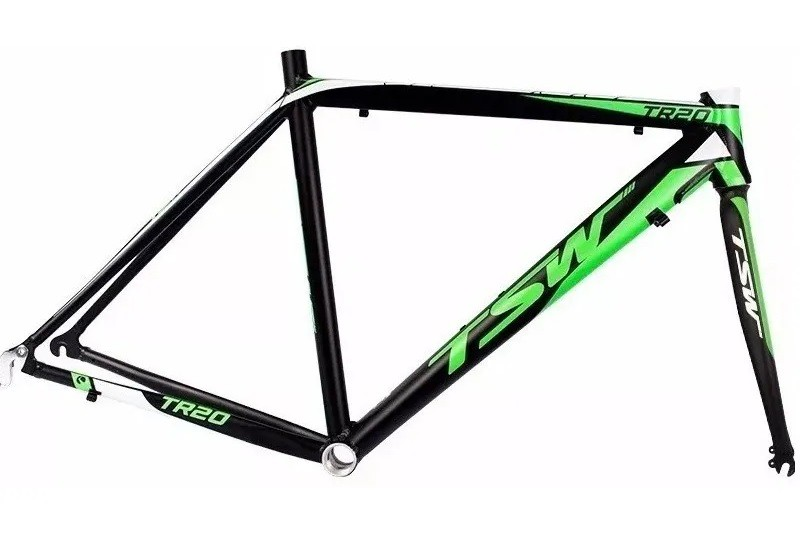 Quadro Bicicleta Tsw Speed Aro 700 Tr-20 C/ Garfo - Verde  - Calil Sport Bike