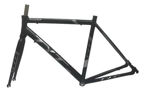 Quadro Bike Speed Tyt Wild R Preto Fosco Alumínio Com Garfo