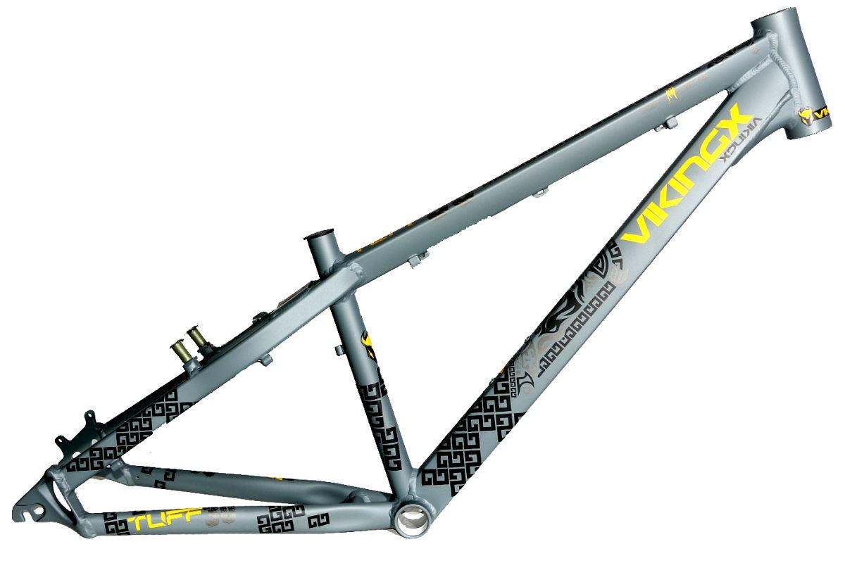 Quadro Vikingx Dirt Jump Tuff X-30 Alumínio - Cinza