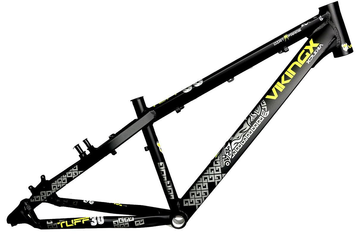 Quadro Vikingx Dirt Jump Tuff X-30 Alumínio - Preto  - Calil Sport Bike