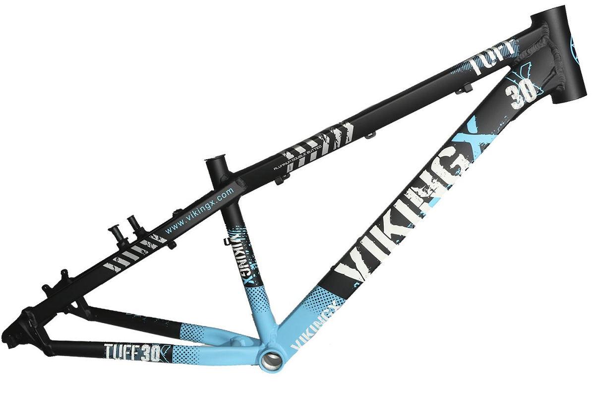 Quadro Vikingx Dirt Jump Tuff X-30 Alumínio - Preto / Azul
