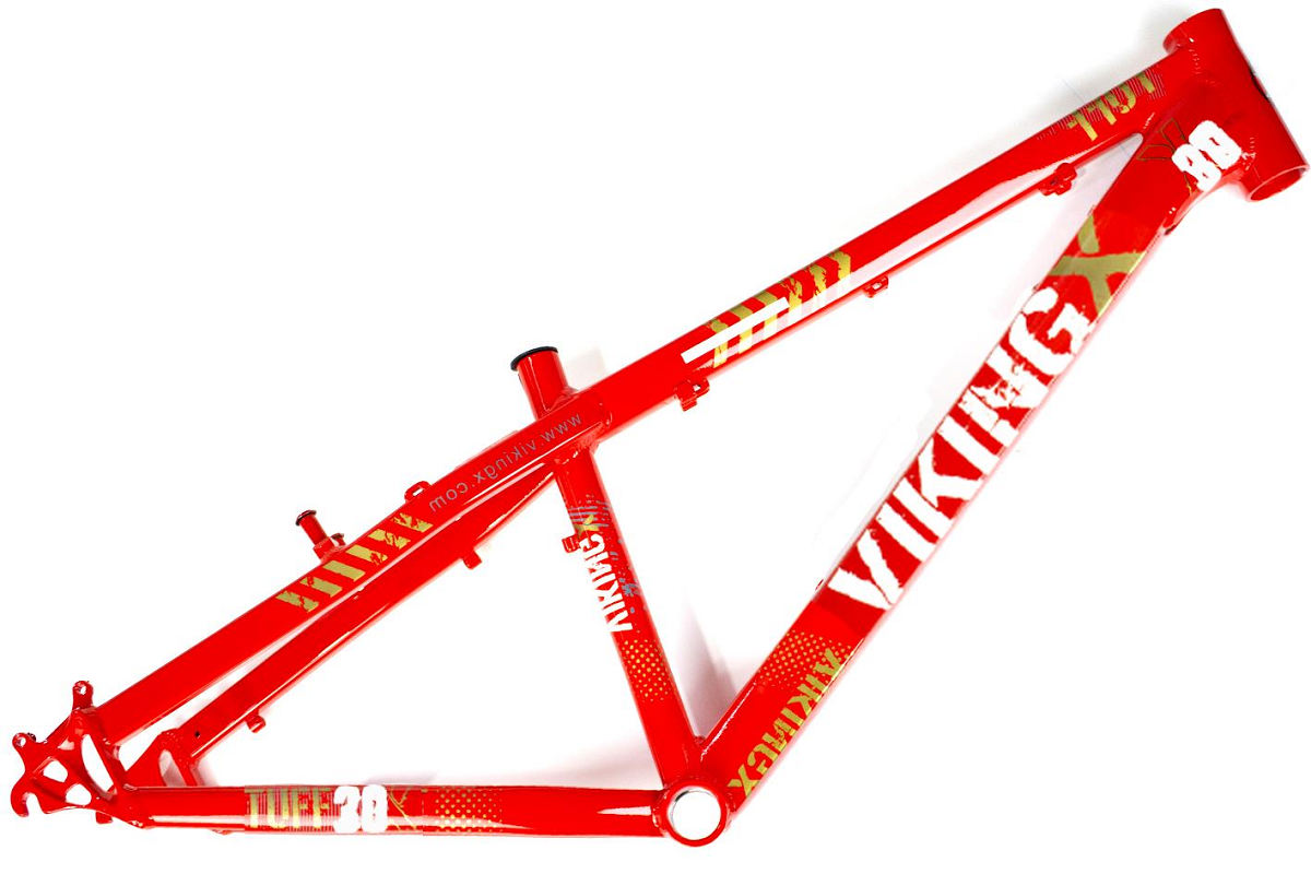 Quadro Vikingx Dirt Jump Tuff X-30 Alumínio - Vermelho