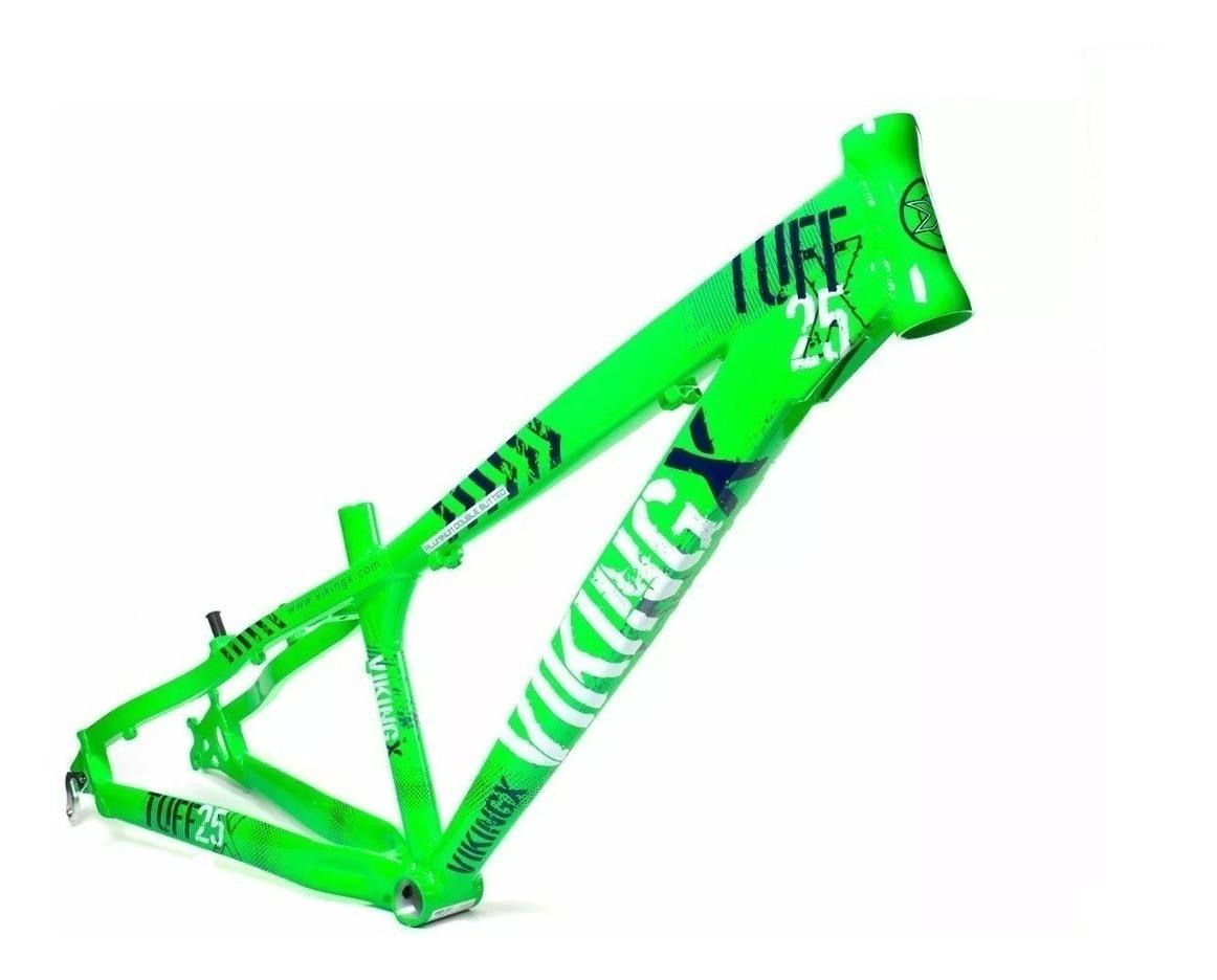 Quadro Vikingx Dirt Jump Tuff X-25 Alumínio - Verde Neon  - Calil Sport Bike